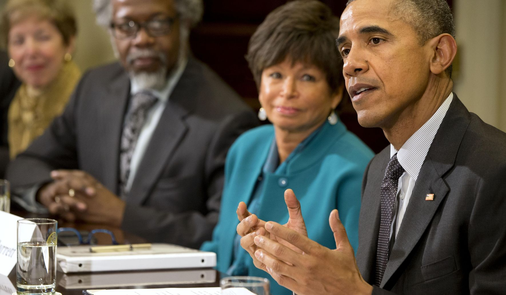 Valerie Jarrett gets down with the common folk
