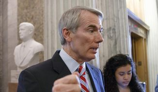 Sen. Rob Portman, R-Ohio, speaks on Capitol Hill in Washington, in this May 12, 2014, file photo. (AP Photo, File)