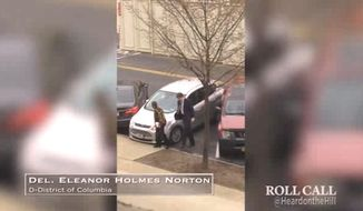 D.C. Del. Eleanor Holmes Norton says she is taking action to improve her parking skills after a video that went viral showed her desperately struggling, and ultimately failing, to appropriately park her car outside the Capitol on Wednesday. (Roll Call)