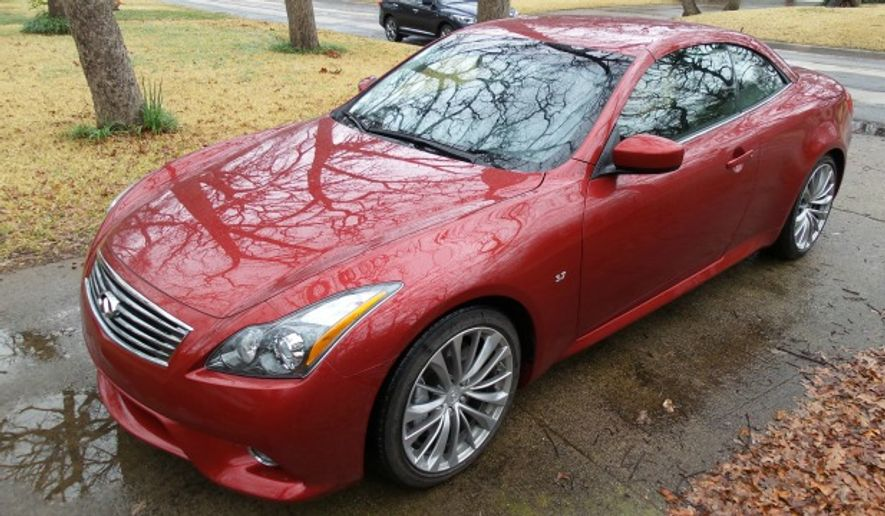 Rita Cook Car Review 2015 Infiniti Q60s Convertible Offers No