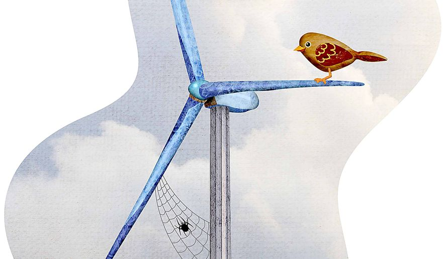 Phasing out renewable energy illustration by Greg Groesch/The Washington Times