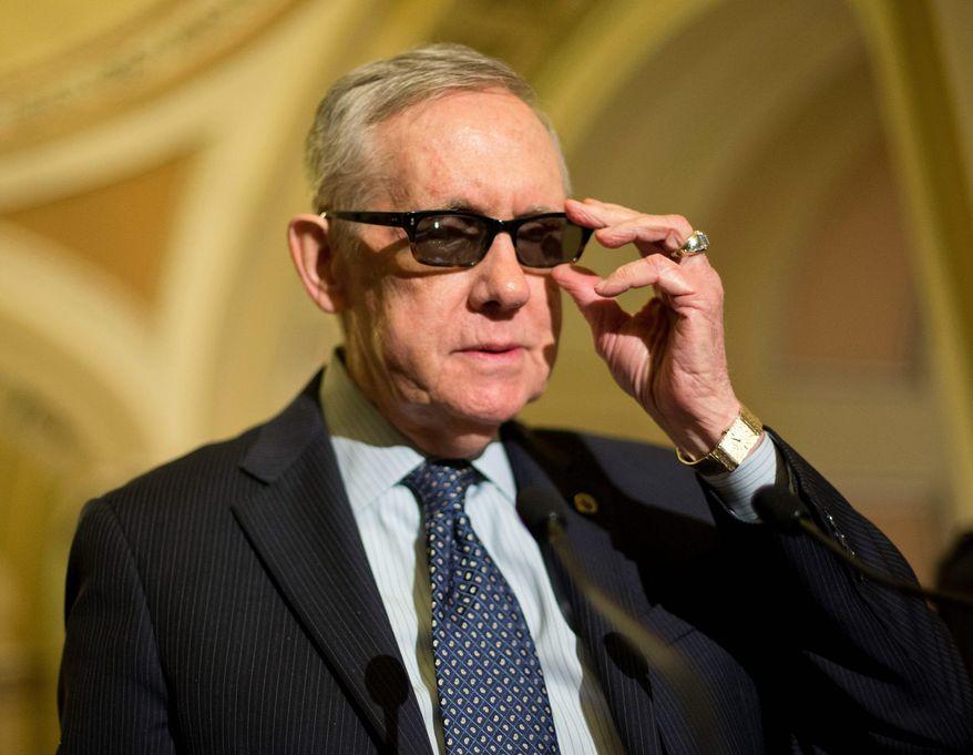 Senate Minority Leader Harry Reid, Nevada Democrat. (Associated Press)