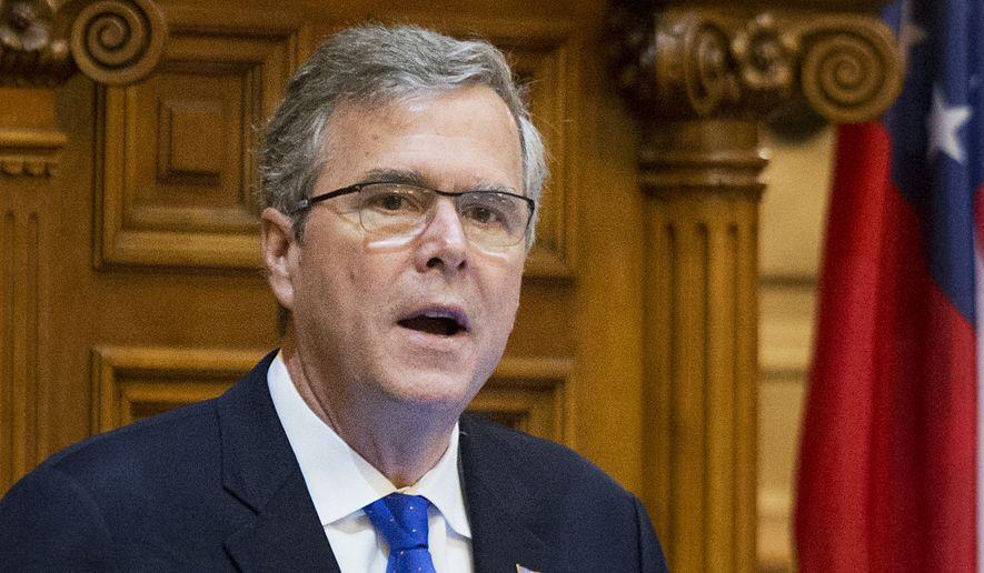 Former Florida Gov. Jeb Bush. (Associated Press) ** FILE **