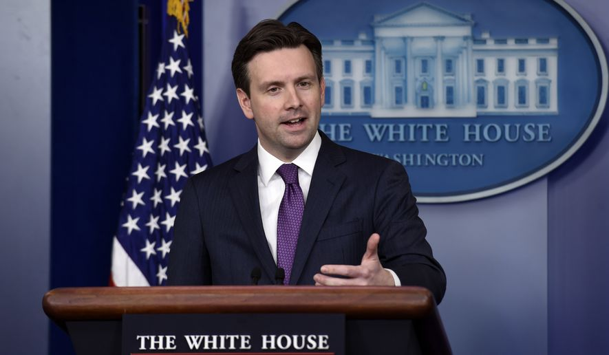 White House press secretary Josh Earnest speaks during the daily briefing at the White House in Washington, Tuesday, March 31, 2015. Earnest answered questions about Iran and the various conflicts in the Middle East. (AP Photo/Susan Walsh)