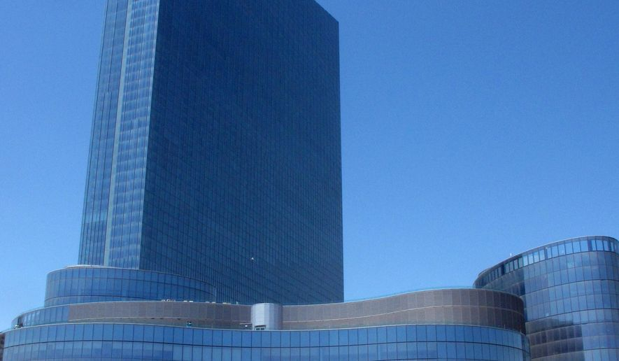 This photo taken on May 30, 2014, shows the Revel casino in Atlantic City, N.J. A court filing Tuesday, March 31, 2015, by former business tenants at the casino says New York's Howard Milstein and New Jersey's Carl Goldberg plan an $88 million bid for Revel. That would top the current $82 million bid by Florida developer Glenn Straub, which is due to be considered Thursday by a bankruptcy judge.  (AP Photo/Wayne Parry)