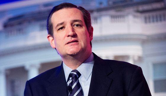 Sen. Ted Cruz, Texas Republican. (Associated Press) ** FILE **