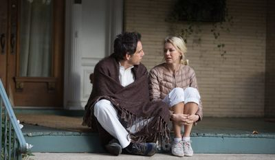 "Ben Stiller and Naomi Watts portray a childless, middle-aged couple in New York who befriend and start to emulate a 20-something couple in ""While We're Young."" (Associated Press)"
