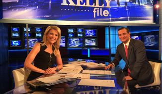 Megyn Kelly, Fox News primetime host, with Sen. Ted Cruz (Fox News)