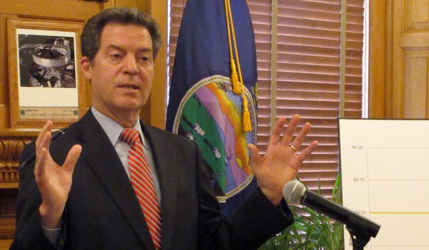 Kansas Gov. Sam Brownback. (AP Photo/John Hanna) ** FILE **