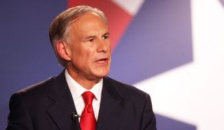 Texas Gov. Greg Abbott. (Associated Press) ** FILE **