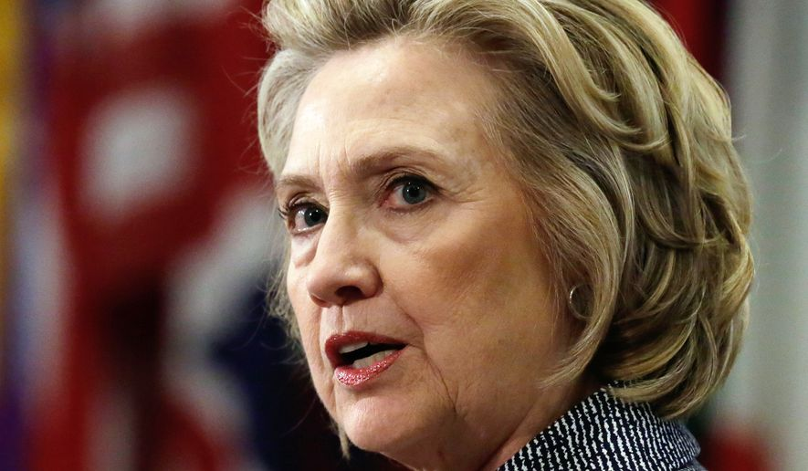 Hillary Rodham Clinton said last month that her use of a private email server didn't include any classified information. She said the server hosting the account was in a private building that was protected by the U.S. Secret Service. (Associated Press)