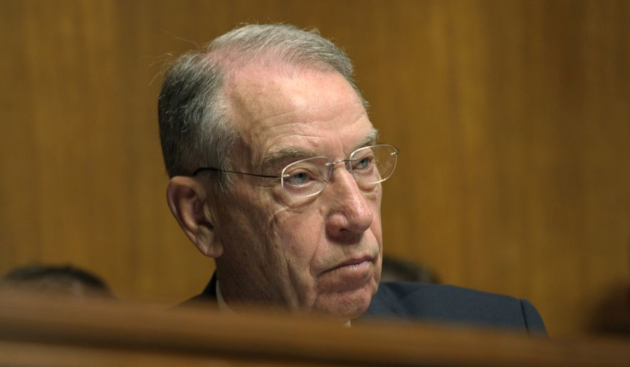 Sen. Charles Grassley, Iowa Republican and the Senate Judiciary Committee's ranking member (Associated Press) **FILE**