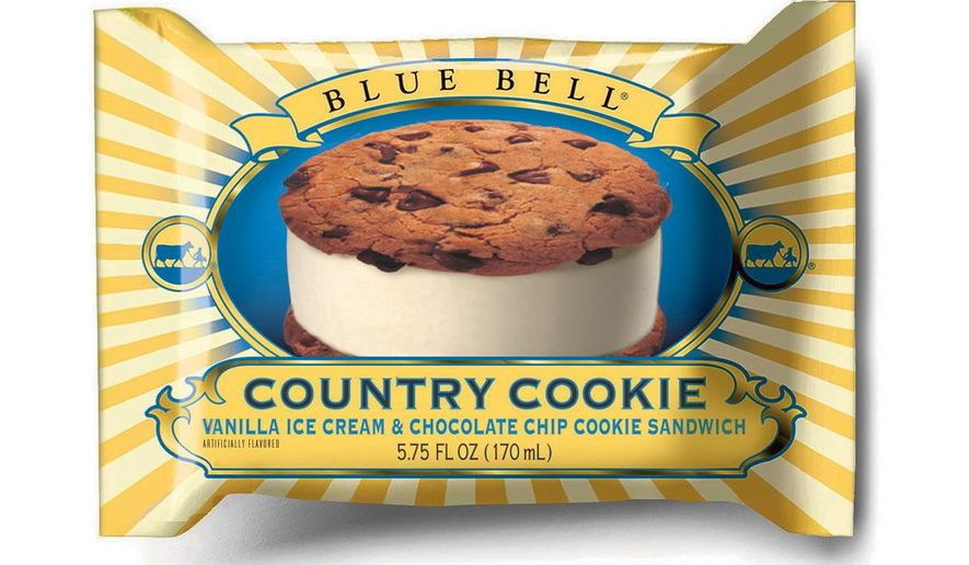 """This undated photo provided by Blue Bell shows Blue Bell Chocolate Chip Country Cookies.  Blue Bell Ice Cream has voluntarily suspended operations at an Oklahoma production facility that officials had previously connected to a foodborne illness linked to the deaths of three people, the company announced Friday, April 3, 2015. """"We are taking this step out of an abundance of caution to ensure that we are doing everything possible to provide our consumers with safe products and to preserve the trust we have built with them and their families for more than a century,"""" the company said in a statement.(AP Photo/Blue Bell)"""