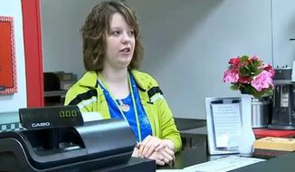 The crowdfunding effort for Memories Pizza in Walkerton, Indiana raised $842,387 in just two days after online threats against the owners forced them to close. Shown here is Crystal O'Connor, who said her family would gladly serve gay customers on a daily basis, but not cater gay wedding ceremonies. (Image: ABC 57, Northern Indiana and Southwestern Michigan)