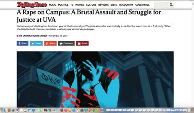 """An independent review by the Columbia University Graduate School of Journalism said Rolling Stone magazine was reckless in vetting its sources, including the purported victim, identified only as """"Jackie,"""" and neglected """"basic, even routine journalistic practice."""""""