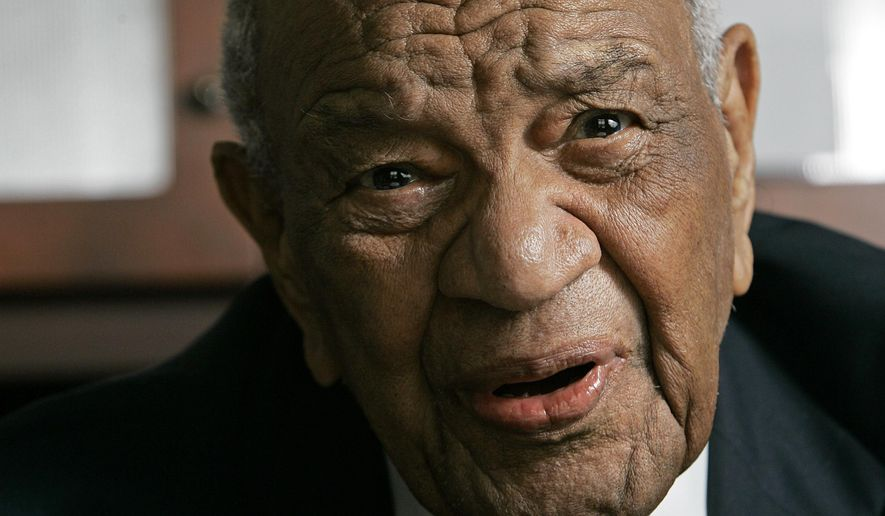 FILE - In a Nov. 29, 2007 file photo, Rev. Gardner Taylor is seen in his home in Raleigh, N.C. The Progressive National Baptist Convention says the Rev. Gardner Taylor died Sunday, April 5, 2014. He was 96. (AP Photo/Gerry Broome, File)