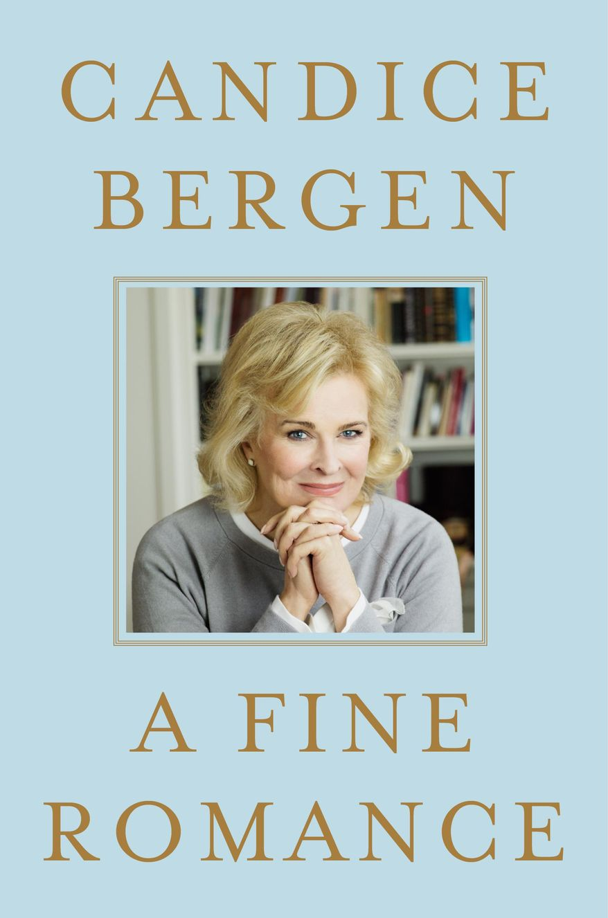 "This photo provided by courtesy of Simon & Schuster shows the cover of the book, ""A Fine Romance,"" by Candice Bergen. (AP Photo/Simon & Schuster)"