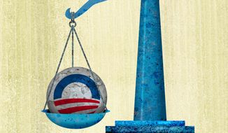 Unequal justice in government illustration by Greg Groesch/The Washington Times
