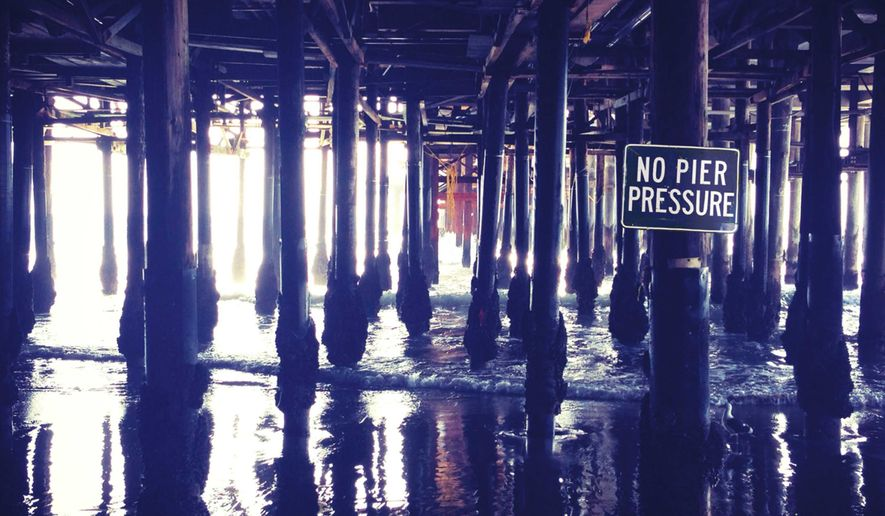 "This CD cover image released by Capitol Records shows ""No Pier Pressure,"" the latest release by Brian Wilson. (AP Photo/Capitol Records)"