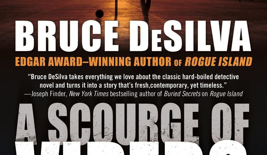 """This photo provided by Forge Books shows the cover of the book, """"A Scourge of Vipers,"""" by author Bruce DeSilva. (AP Photo/Forge Books)"""