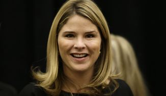 In a Wednesday, Oct. 29, 2014, file photo,  Jenna Bush Hager, is seen in Omaha, Neb., before an appearance as feature speaker at the Girls Inc. fundraiser luncheon. (AP Photo/Nati Harnik, File)