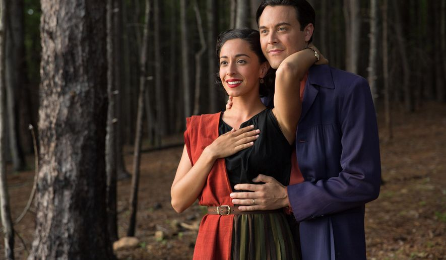 """This photo provided by Twentieth Century Fox shows, Oona Chaplin as Ruth and Jack Huston as Ira in a scene from the film, The Longest Ride,"""" directed by George Tillman, Jr. The movie releases in the U.S. on April 10, 2015. (AP Photo/Twentieth Century Fox, Michael Tackett)"""