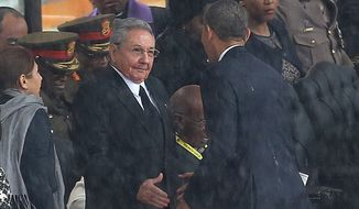 "President Obama's warming relations with Cuban President Raul Castro have drawn fire from political opponents, namely Sen. Marco Rubio, Florida Republican and a Cuban-American, who says Mr. Obama's embracing Mr. Castro sends ""the wrong kind of message."" (Associated Press) ** FILE **"