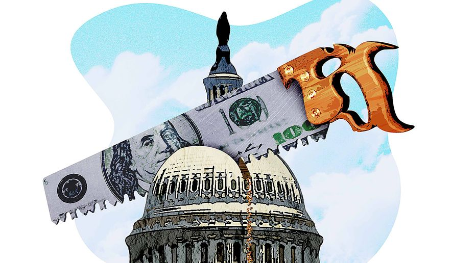 Reducing the size of government illustration by Greg Groesch/The Washington Times