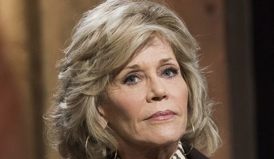Actress Jane Fonda participates in AOL's BUILD Speaker Series to discuss her career at AOL Studios on Tuesday, April 7, 2015, in New York. (Photo by Charles Sykes/Invision/AP)
