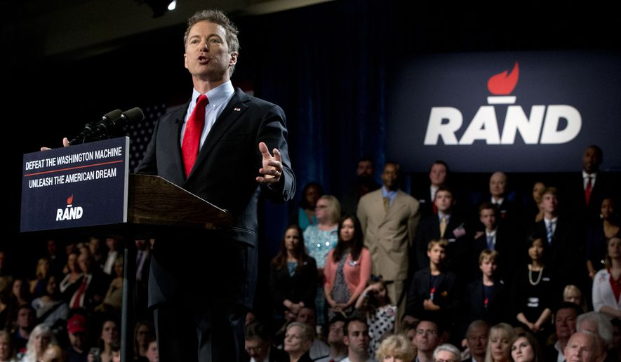 New Hampshire voters will get their first view of the latest officially announced Republican 2016 candidate Wednesday, when Sen. Rand Paul of Kentucky arrives, and they are already sizing him up as a potential threat to Jeb Bush. (Associated Press)
