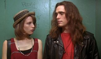 Bridget Fonda and Matt Dillon co-star in Singles, now available in Blu-ray. (Courtesy of Warner Hoem Video)