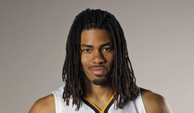 This is a Sept. 29, 2014, file photo shows Indiana Pacers forward Chris Copeland posing for a portrait during the NBA basketball team's media day in Indianapolis. (AP Photo/AJ Mast, File)