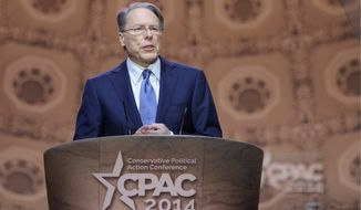National Rifle Association CEO Wayne LaPierre will be meeting some Republican presidential prospects at the group's annual convention in Nashville, Tennessee. The event is expected to have an attendance of 700,000. (Associated Press)