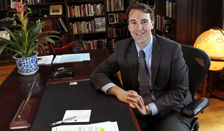 The uproar against Gordon College was spurred by President D. Michael Lindsay's joining a July letter from religious leaders to President Obama, asking him to carve out a general religious exemption from an executive order banning federal contractors from discriminating based on sexual orientation or gender identity. (Associated Press)