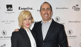 Jessica Seinfeld, left, and Jerry Seinfeld attend the Inaugural Los Angeles Baby Buggy Fatherhood Lunch in Beverly Hills, Calif., in this March 4, 2015, file photo. (Photo by Richard Shotwell/Invision/AP, File)