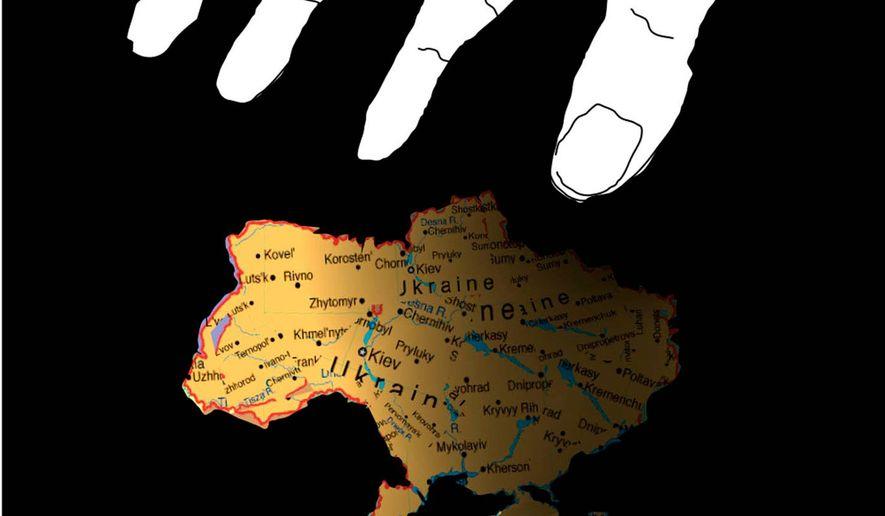 Illustration on Putin's renewed aggression against Ukraine by Nancy Ohanian/Tribune Content Agency