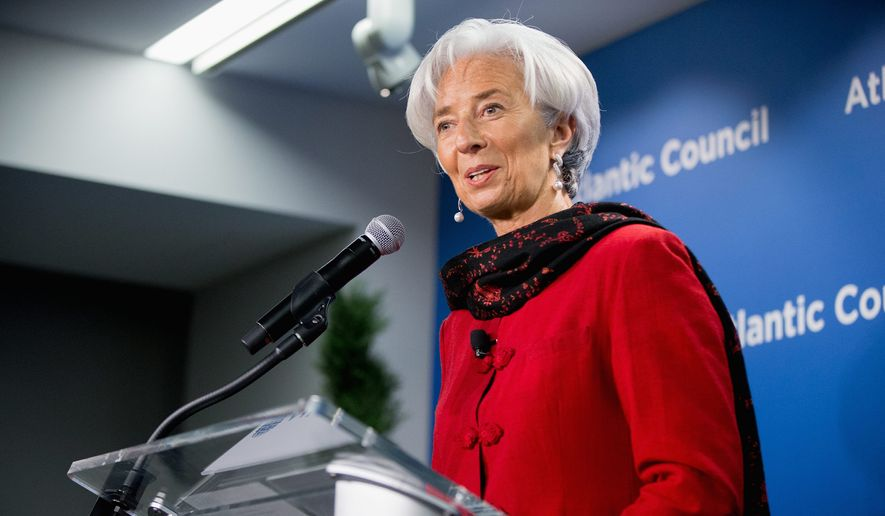 """International Monetary Fund Managing Director Christine Lagarde Thursday said that supporting the new China-sponsored development bank is a """"no-brainer."""" The IMF joins the World Bank in support of the new bank over Obama administration reservations. (Associated Press)"""