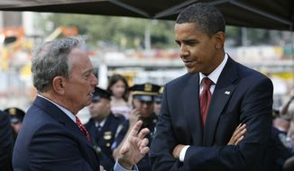 Former New York Mayor Michael R. Bloomberg and President Obama have not given up the fight for stricter gun control laws, but many Democrats in Congress are wishing the president would relent, having concluded that the issue is an electoral loser for them. (Associated Press)