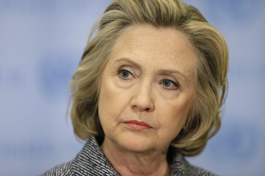 A Quinnipiac University Poll shows former Secretary of State Hillary Rodham Clinton losing to Republican candidate Sen. Rand Paul in both Colorado and Iowa. (Associated Press)