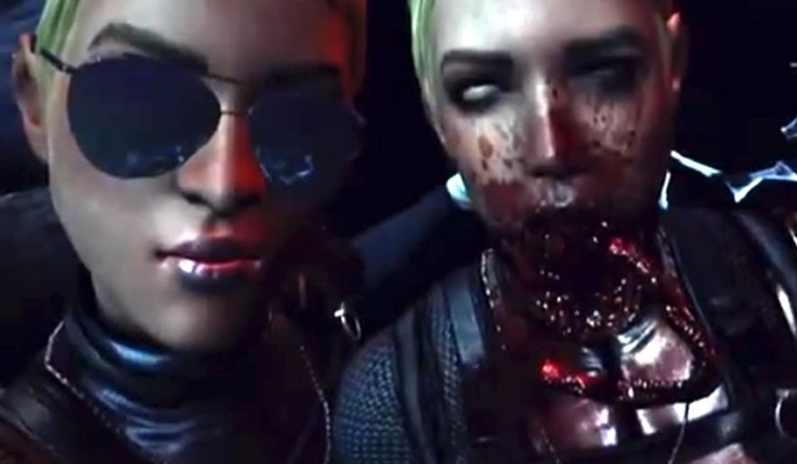 """The New Mortal Kombat X video game features a """"selfie"""" fatality. (Image: NetherRealm Studios, gameplay screenshot)"""