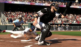 It's a play at the plate in MLB 15: The Show. (Courtesy of SCEA)