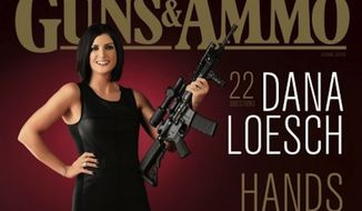 Conservative author and pundit Dana Loesch will be the first woman to grace the cover of Guns & Ammo magazine since 1961 in its upcoming June 2015 issue. (Guns & Ammo)