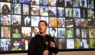 Facebook CEO Mark Zuckerberg speaks at Facebook headquarters in Menlo Park, California, Jan. 15, 2013. Facebook remains the most used social media site among American teens ages 13 to 17, according to a study from the Pew Research Center. (AP Photo/Jeff Chiu) ** FILE **