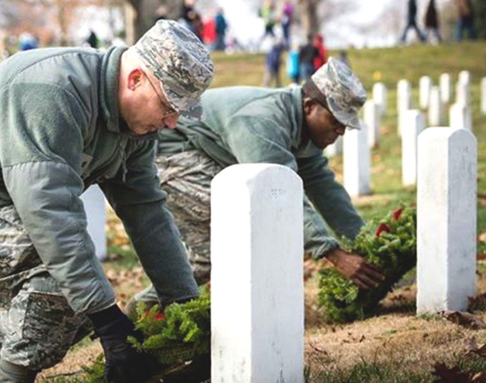 Wreaths will lie on tombstones of American soldiers in both the U.S. and France this Christmas