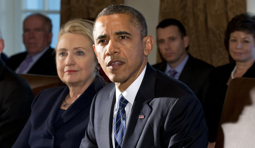 Democrats made a big show Tuesday of promoting equal pay for women, unfazed by data showing that both President Obama and leading presidential contender Hillary Rodham Clinton haven't walked the walk on pay equity. (Associated Press)