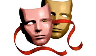 Ethnicity mask illustration by Greg Groesch/The Washington Times
