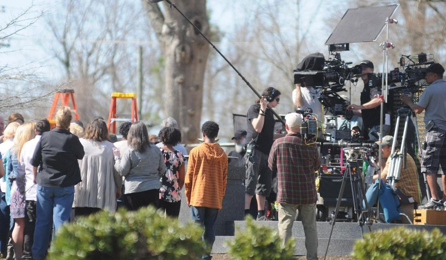 "ADVANCE FOR USE MONDAY, APRIL 20, 2015, AND THEREAFTER- In this March 17, 2015 photo, CBS' locally filmed summer series ""Under the Dome"" is filmed in Burgaw, N.C. As the already-limited funds rapidly dwindle and the state scrounges for work, potential clients nationwide could find their patience with the state tested if the current legislative session doesn't show some support for the industry, according to Joe Chianese, executive vice president of Entertainment Partners, which monitors incentive programs worldwide. (Matt Born/The Star-News via AP)  LOCAL TELEVISION OUT; LOCAL INTERNET OUT"