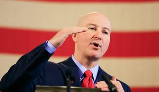Nebraska Gov. Pete Ricketts has threatened to veto a bill proposed before the state legislature in Lincoln that would abolish the use of capital punishment in the Cornhusker State, which hasn't executed a prisoner since 1997. (Associated Press)
