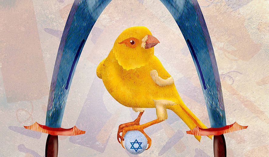 Scimitar canary illustration by Greg Groesch/The Washington Times