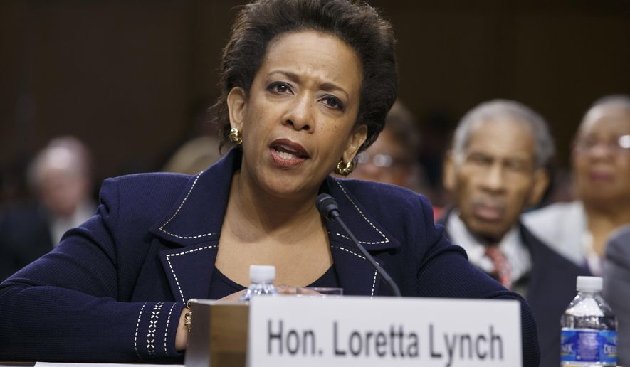 """FILE - In this Jan. 28, 2015 file photo, Attorney General nominee Loretta Lynch testifies on Capitol Hill in Washington. President Barack Obama on Friday said it was """"crazy"""" and """"embarrassing"""" the way the Republican-led Senate has held up confirmation of his attorney general nominee, Loretta Lynch. """"What are we doing here?"""" Obama said. """"I have to say there are times when the dysfunction in the Senate just goes too far. This is an example of it. It's gone too far. Enough. Enough. """"Call Loretta Lynch for a vote,"""" he said emphatically. """"Get her confirmed.""""  (AP Photo/J. Scott Applewhite, File)"""